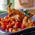 Shrimp and Tunisian Tomato Relish
