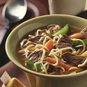 Garlic-Ginger Beef & Noodle Soup