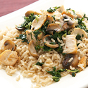 Mushroom and Spinach Stir-Fry
